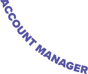 Curved text that reads 'Account Manager'